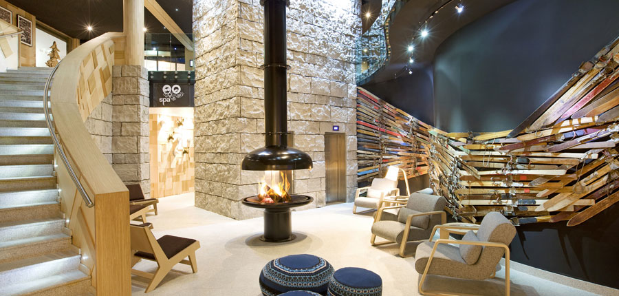 Lobby with Fireplace